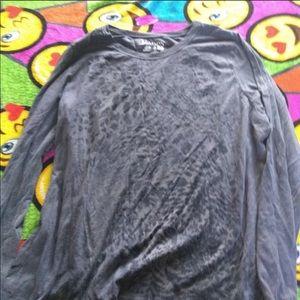 Hanes long sleeve leopard shirt